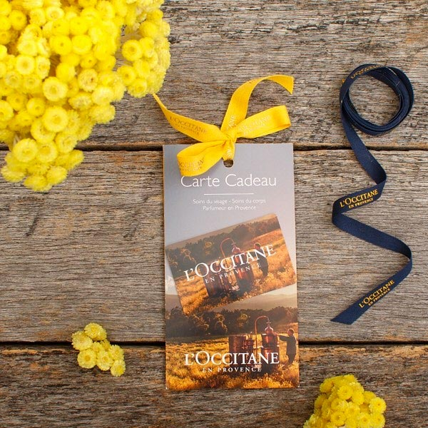Exclusive Gift Cards- L'Occitane